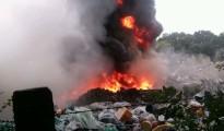 pożar Lubin wysypisko