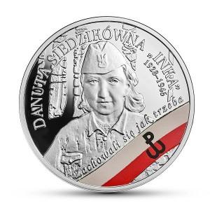Danuta Inka Siedzikówka moneta NBP
