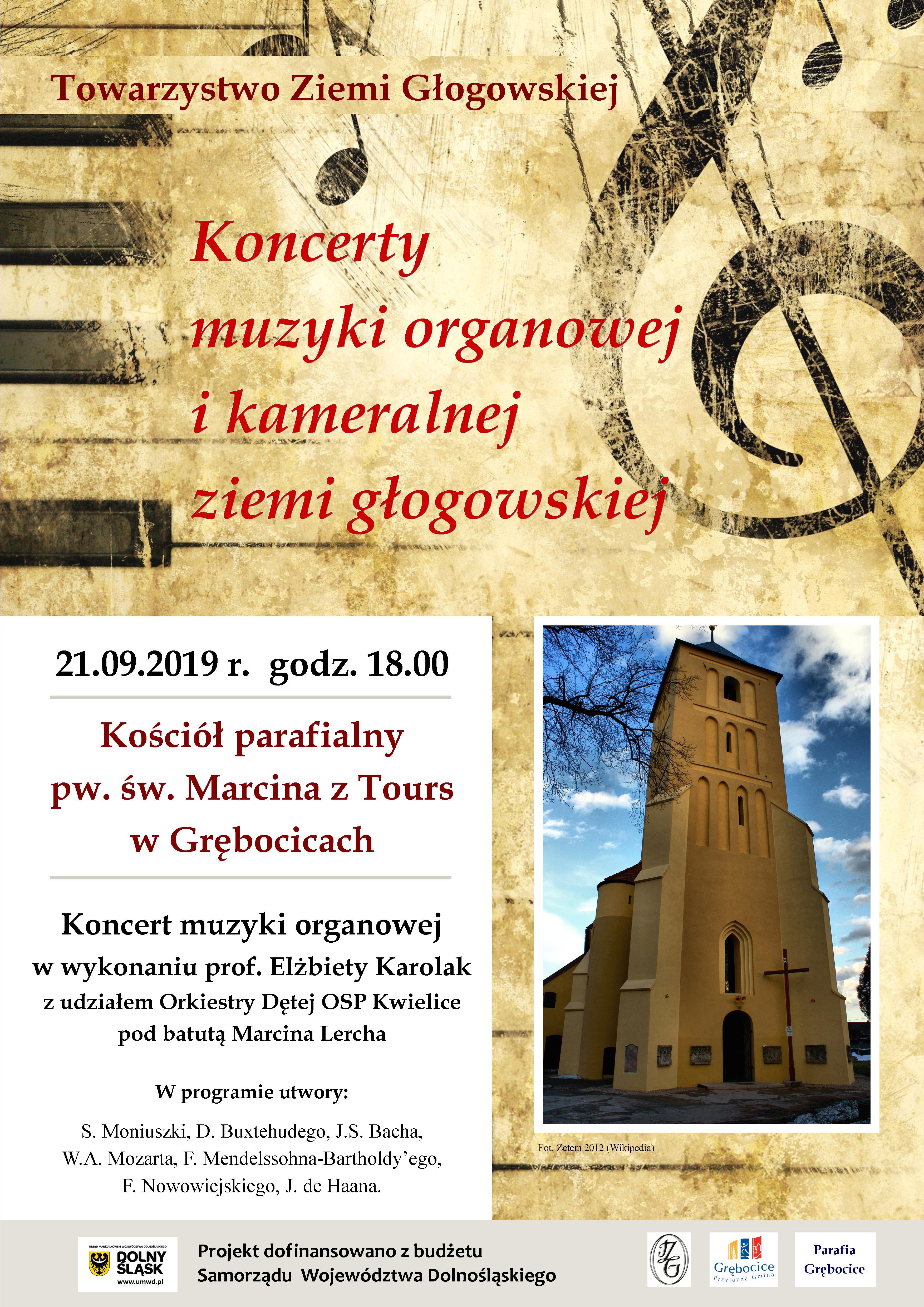 Koncert organowy w Grębocicach