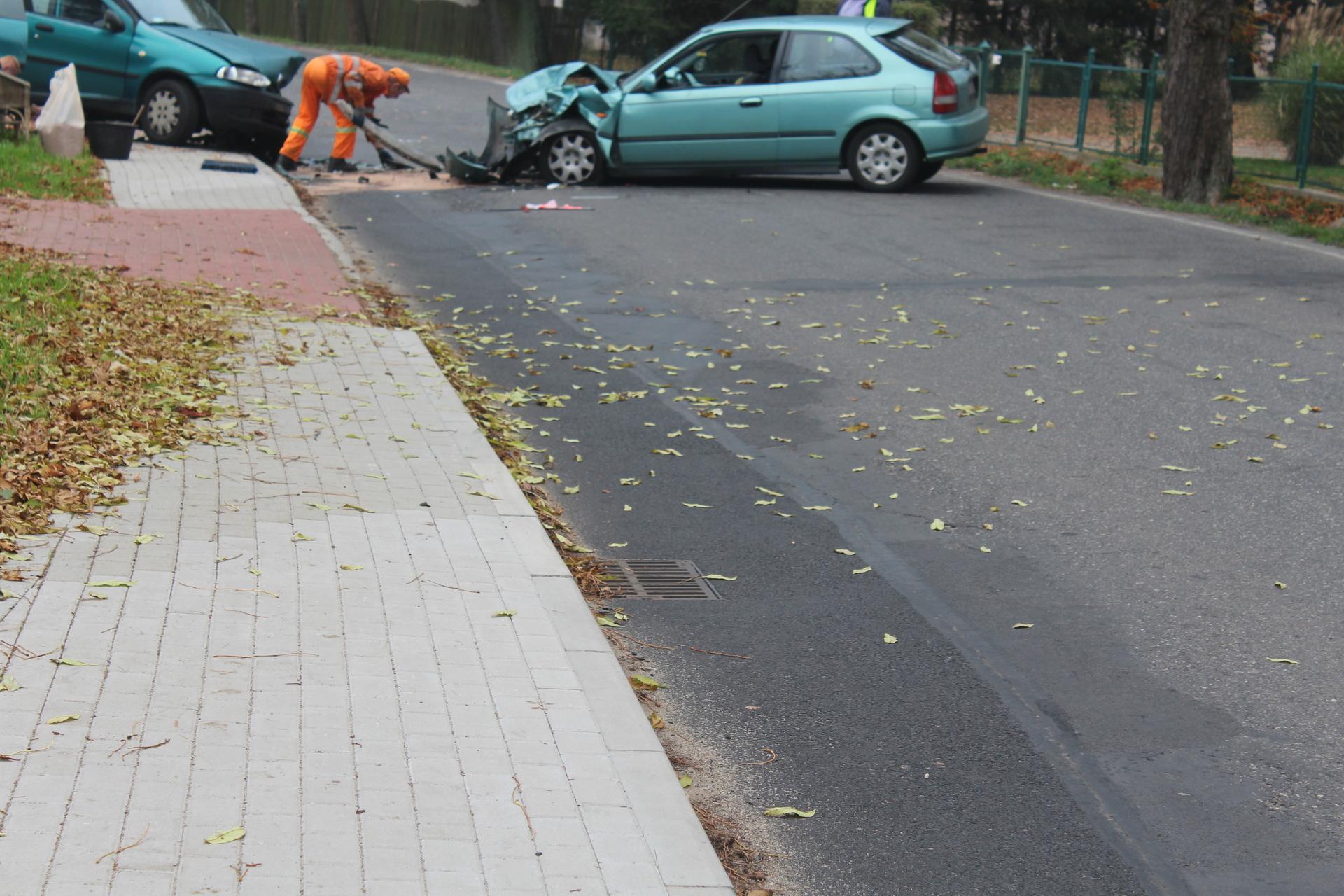 Wypadek w Jędrzychowie (FOTO)