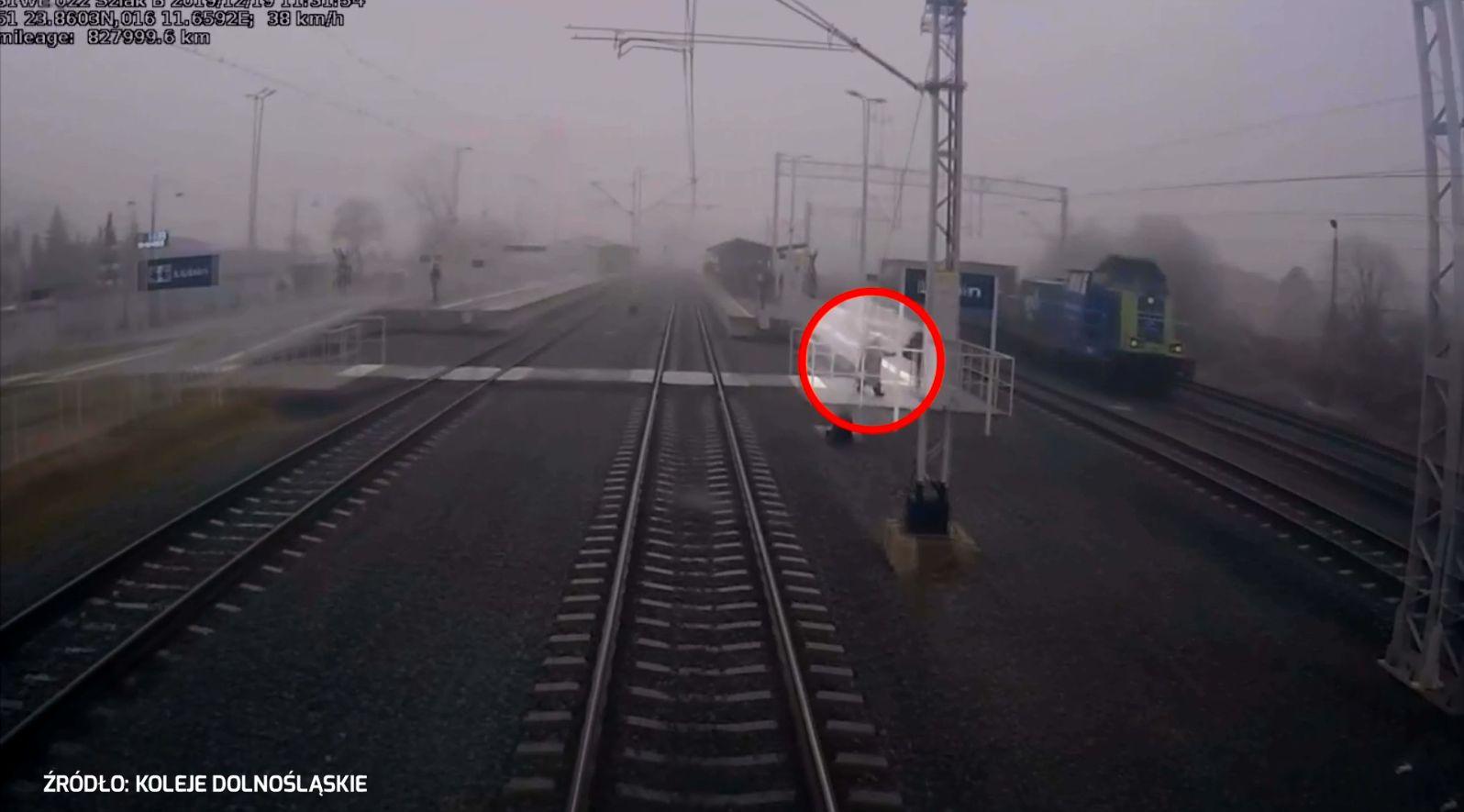 Groźne zdarzenie na stacji kolejowej