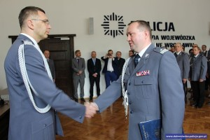 Tomasz Trawinski mianowanie komendant policji (1)