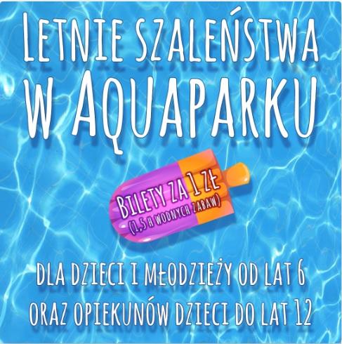 1,5 h wodnej zabawy za 1 PLN