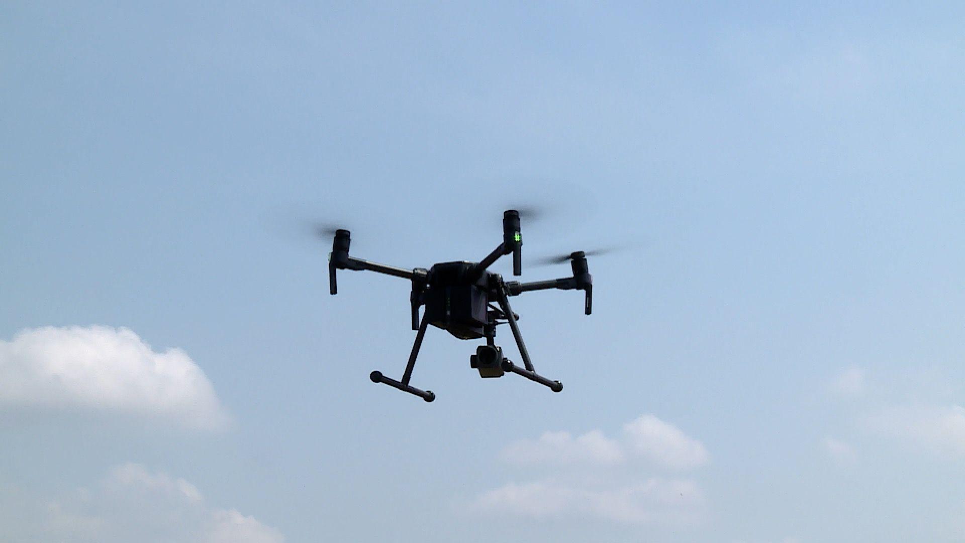 Nowy funkcjonariusz latał nad miastem (WIDEO)