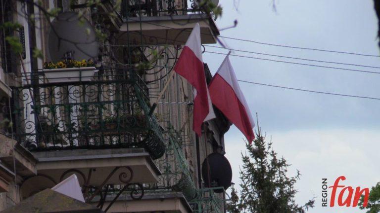 Biało-czerwony Jawor (FOTO, WIDEO)