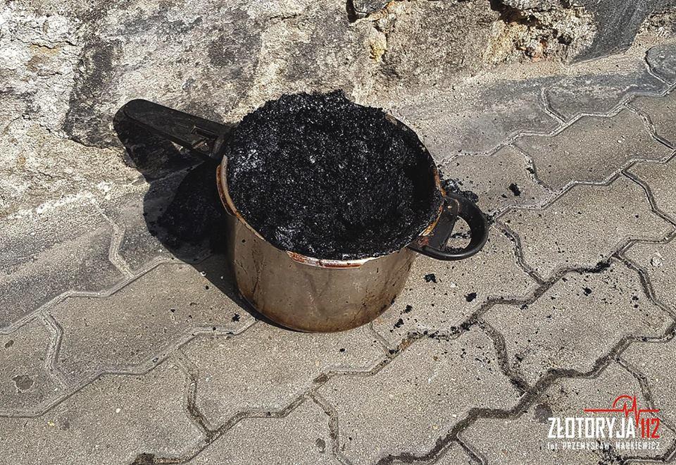 Garnek na gazie omal nie wywołał pożaru