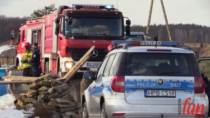 Pożar wiaty gospodarczej w Kawicach (FOTO)