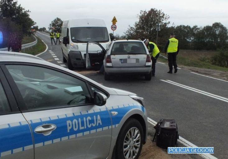 Kolizja w Grodźcu Małym. Policja apeluje do kierowców