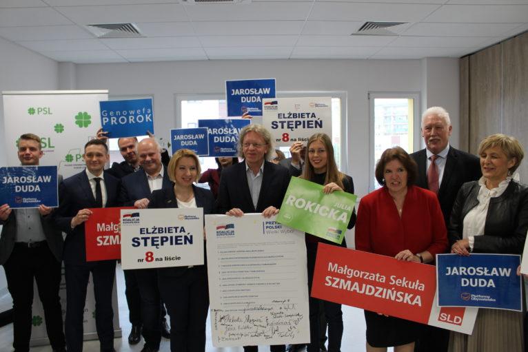 Koalicja Europejska przedstawiła kandydatów
