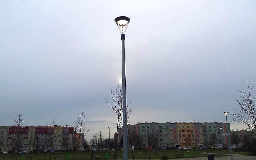 Nowoczesne oświetlenie na Piekarach