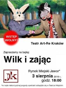plakat Wilk i Zając