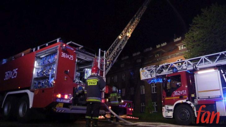 Pożar mieszkania przy Tarnopolskiej w Legnicy (FOTO, WIDEO)