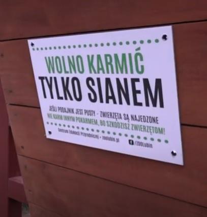 Pojemniki z karmą w Parku Wrocławskim