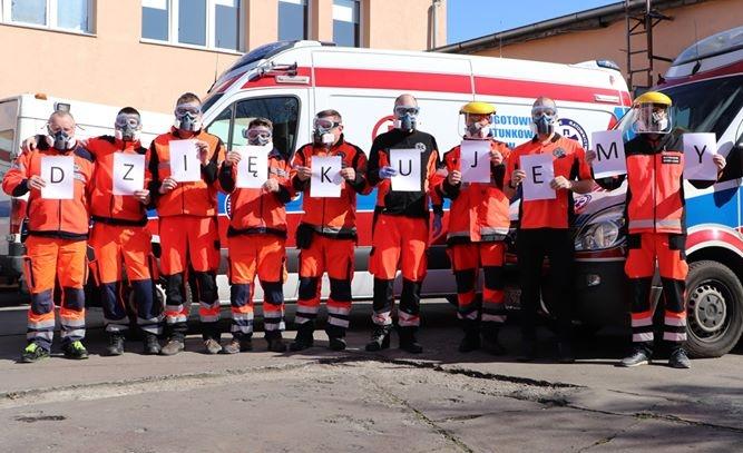 Ratownicy i pielęgniarki dziękują za wsparcie
