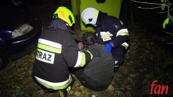 Pożar magazynów – strażacy uratowali mężczyznę! (FOTO, WIDEO)