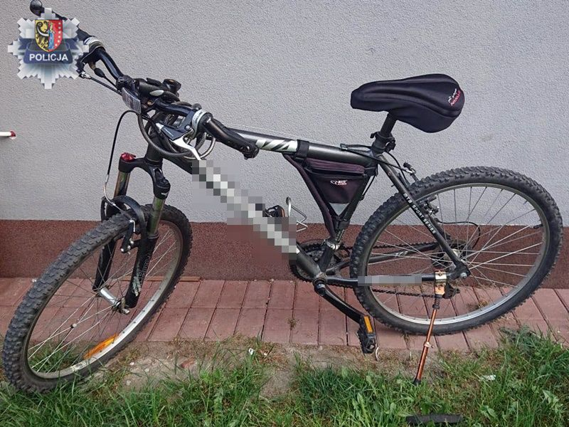 Złodziej rowerów w rękach policji