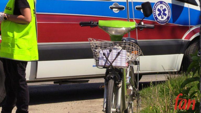 Potrącono rowerzystę. Poszkodowany czuje się dobrze (FOTO)