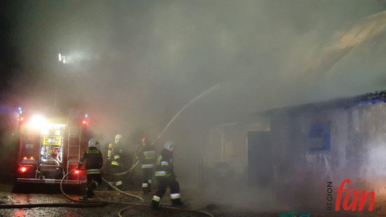 Pożar stodoły w Kondratowie (FOTO)