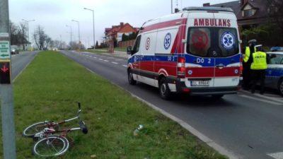 Rowerzystka potrącona na pasach w Lubinie